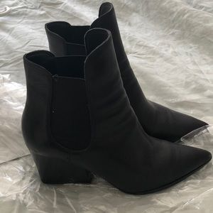 Kendal and Kylie leather ankle boots